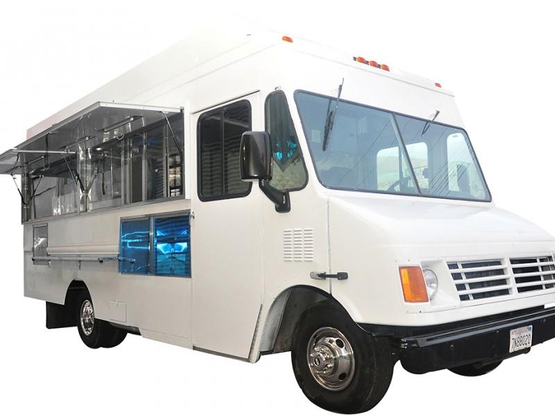 open white truck